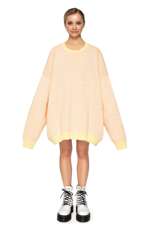 SWEATER PATTERN PEACH
